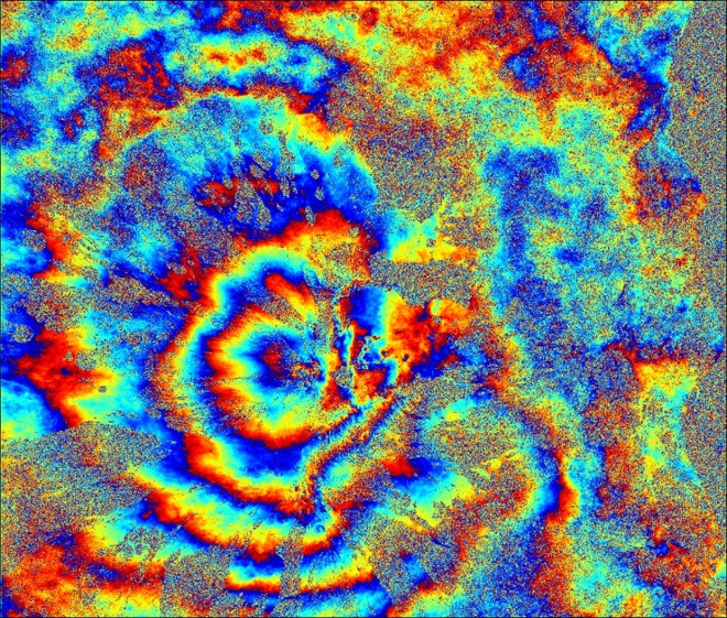Interferogram of Etna